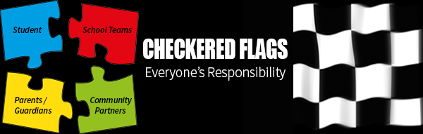 Checkered Flags Banner